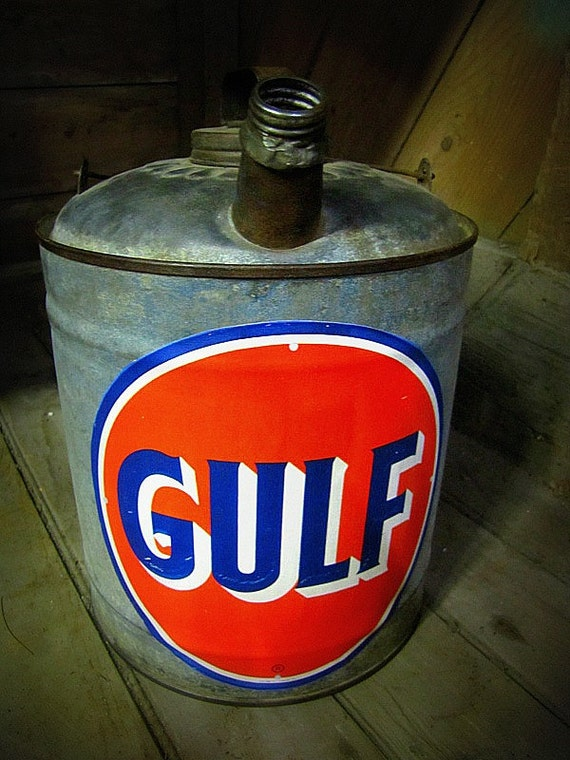 Antique Collector's Nostalgic Gulf Gas Can