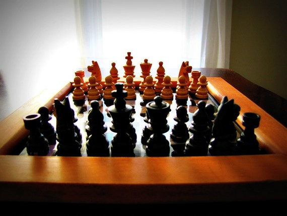 1980's Beautiful Vintage Chess Set