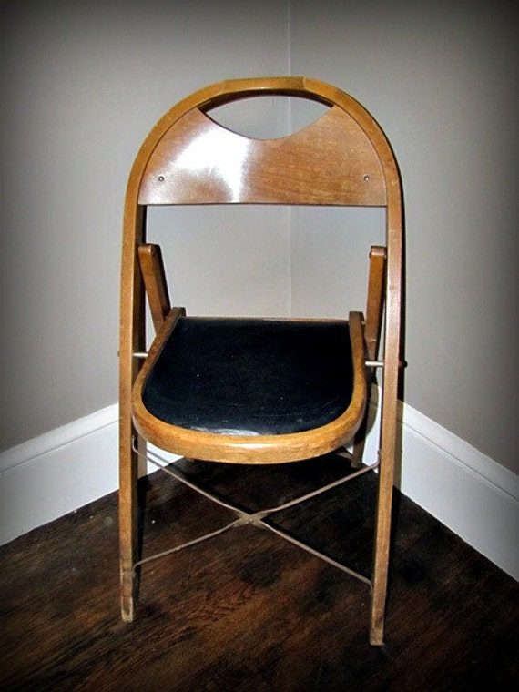 Vintage Stakmore Folding Chairs Black