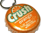 Orange Crush Bottle Cap Customizable ID Tag