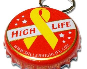 Beer Bottle Cap ID Tag - Miller High Life