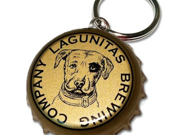 Lagunitas Brewing Beer Bottle Cap Customizable ID Tag
