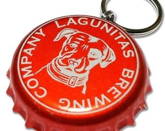 Lagunitas Brewing Beer Bottle Cap Customizable ID Tag (RED)