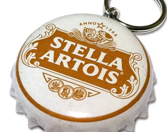 Stella Artois Beer Bottle Cap Customizable ID Tag