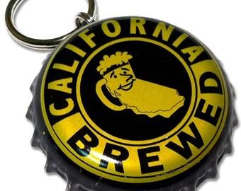 Beer Bottle Cap ID Tag - Moylan's California Brewed