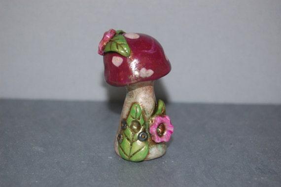 SALE 50% off Plum Mushroom Fairy House