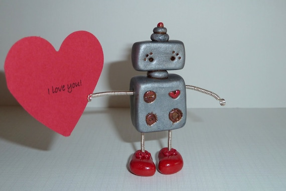 My Big Red ShoeBot Polymer Robot with Shiny Red Shoes