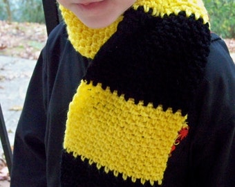 Wizard Inspired Scarf Crochet - Choose your favorite House colors