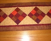 Table Runner in deep rich tones for fall