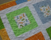 Dinosaur baby quilt, ready to ship, baby boy quilt,
