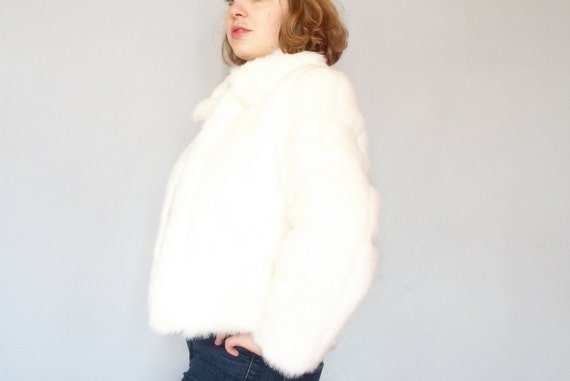 RESERVED FOR JAE Price Reduced Boho White Faux Fur Coat in Mint Condition