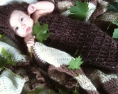 Crochet Hooded Cocoon Photography Prop