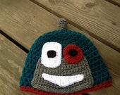 Teal Bot Crochet Pattern