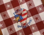 American land that I love 100% cotton bath kitchen dish towel