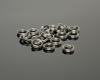 Bulk 6mm Stainless Steel Split Rings (1000)