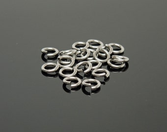 4.5mm OD 20G Stainless Steel Jump Rings (20)
