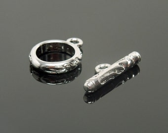 Detailed Stainless Steel Toggle Clasp (10)