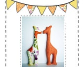 Giraffe Toy Sewing Pattern - PDF Instant Digital Download