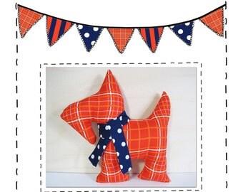 Scottie Dog Sewing Pattern - PDF Instant Download - Soft Toy Pattern - Dog Pattern - Stuffie Pattern - Softie Pattern