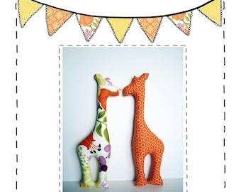 Giraffe Sewing Pattern - PDF Pattern - Giraffe Pattern - Stuffie Pattern - Baby Child Toy Softie Stuffed Animal Pattern