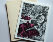 Pig Greeting Card, 2-Color Offset Printed
