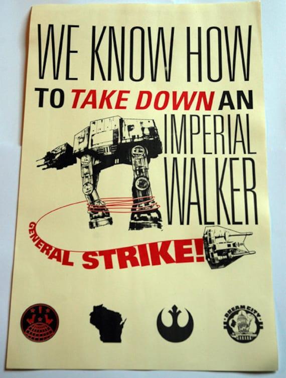 Poster: General Strike - Offset printed