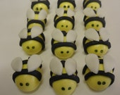 Fondant Bumble Bee Cupcake Toppers