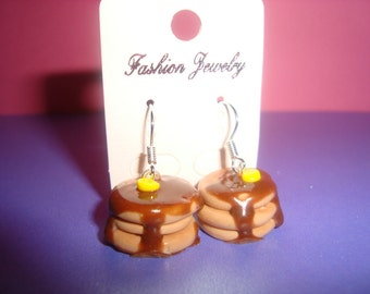 Pancake earrings(Polymer clay)