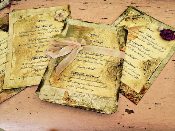 Items similar to Wedding Menus Wedding Menu Secret Garden ...