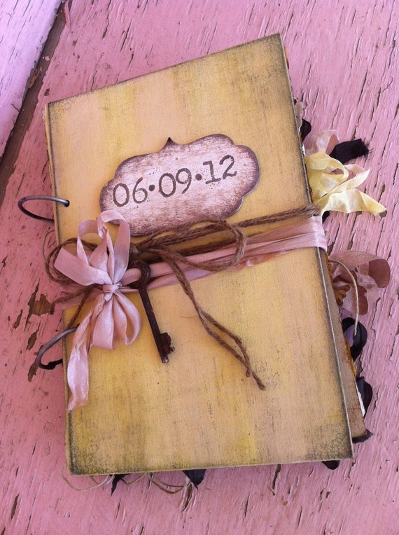Wedding Guest book Fall Wedding Sunflowers rustic Wedding Guest Book Alternative