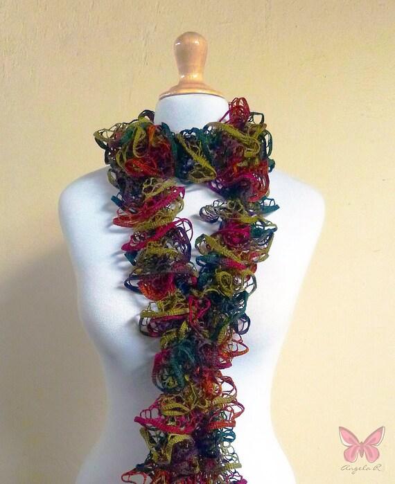 scarf Starbella AUTUMN - Ruffled Lace - flamenco, can can - ruffle, accessories, fishnet