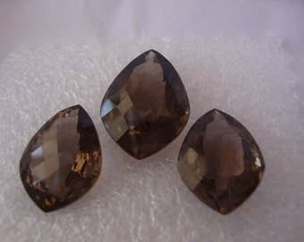 Wholesale price smokey topaz faceted three piece set pendant earrings set holiday shopping discounts