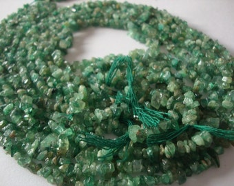 Emerald Beads Rough uncut beads 5 strands Natural Emerald wholesale lot wt: 225 Carats Lth 13 inches each