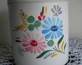 50's Ransburg Hand Painted Tin Cannister