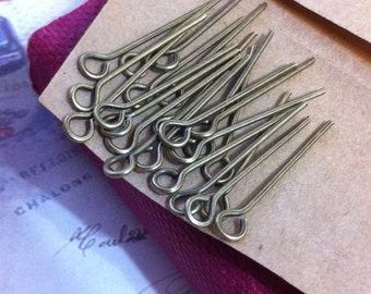 20 mm Antique Bronze Eye Pin Findings. (.mmsg)