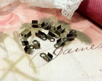 9 x 4 mm Antique Bronze Bead Tips (.mt)