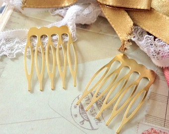 27 x 39 mm Golden Plated Comb Findings (.sg)