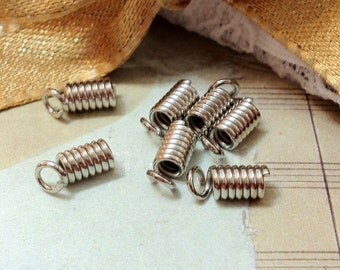 7 x 3.5 mm Silver Stainless Steel Spring Coil Findings