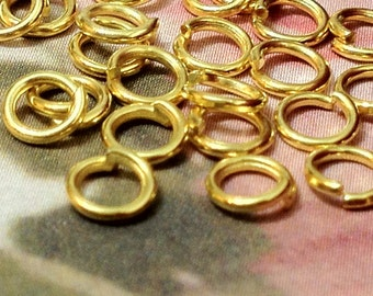 4 mm Golden Plated Jump Rings (.mmtg)