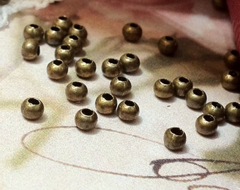 2 mm Round Metal Beads/ Spacer Beads of Various Colors (.mmsg)