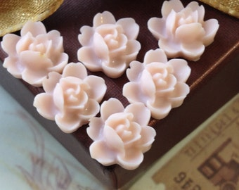 12 mm Tan Brown Color Orchid Resin Flower Cabochons (.tu)
