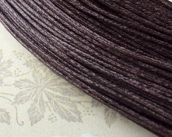 80 Meters of 0.8 mm Dark Brown Colour Waxed Cotton Cord (g.m)