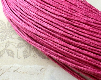 1 mm Hot Pink Colour Waxed Cotton Cord (.mcc)