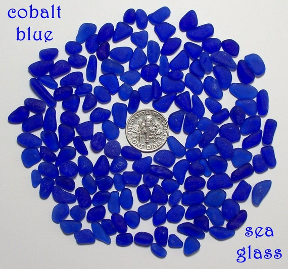 Cobalt Blue tinies 150 count lot Genuine Beach Sea Glass (F8) Free Shipping in US