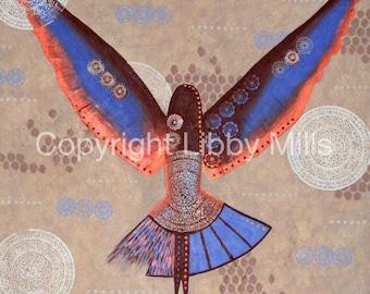Bird Painting - Art - Spirit Bird - Original Artwork - Acrylic  - Libby Mills