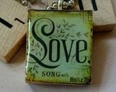Scrabble Tile Pendant-Key Chain-Wine Glaass Charm-Magnet-Love-(PH14)  Buy 3 Get 1 Free on all Scrabble Tiles