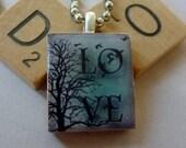Scrabble Tile Pendant-Wine Glass Charm-Magnet-Key Chain-Wintery Love-(I26)  Buy 3 Get 1 Free on all Scrabble Tiles