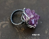 Ring Tersky coast, silver, amethyst