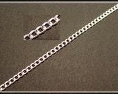 1 x readymade chain, silver plated, versilbert,  approx., ca. 80 cm