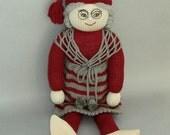 Knitted Gnome Grandma Doll- Stuffed SwedishTomte- Norwegian Nisse-Christmas Elf Decoration-Female Old Lady Doll-Granny-Grandmother Gift-Sale